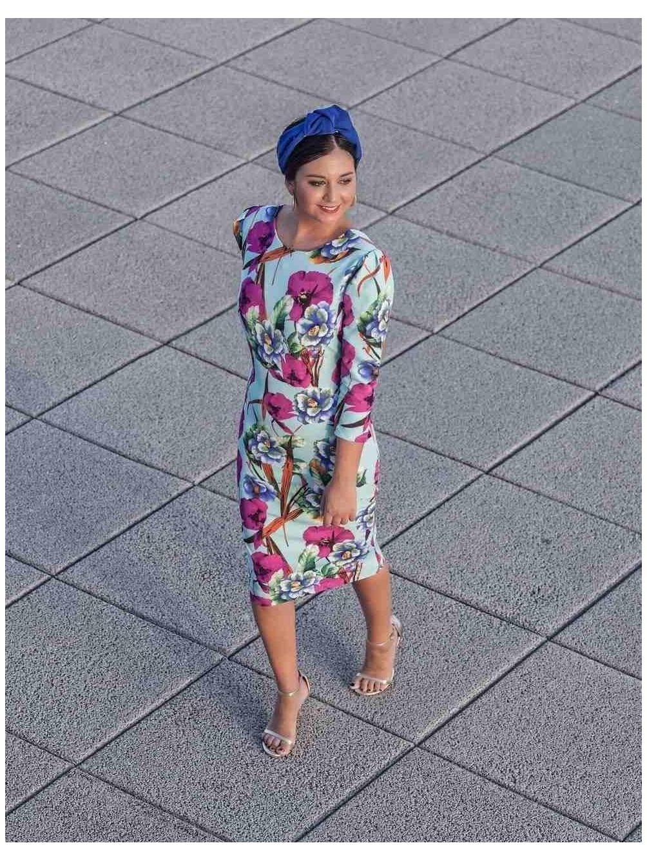 vestido M.T flores de septiembre, midi, Mariquita Trasquilá