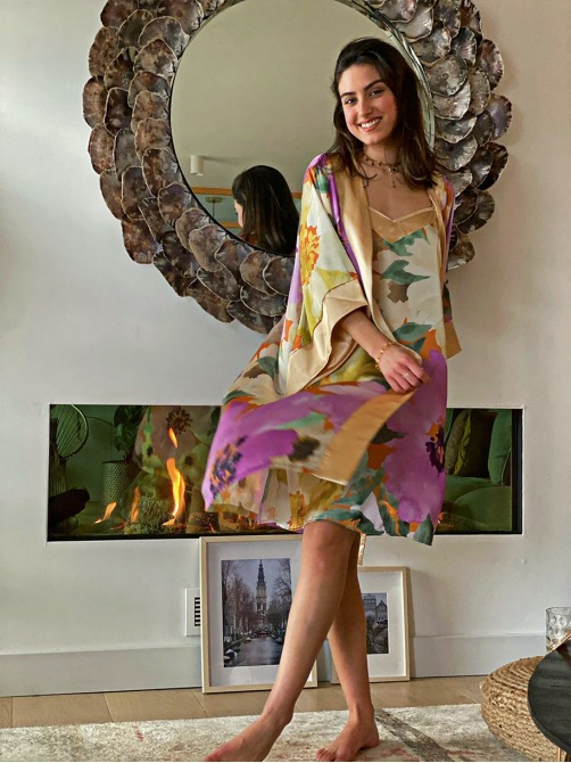 Conjunto Gaudí Malva, Pijama Novia, Pijama damas de honor, Pijama elegante, Pijama luna de miel, Mariquita Trasquilá