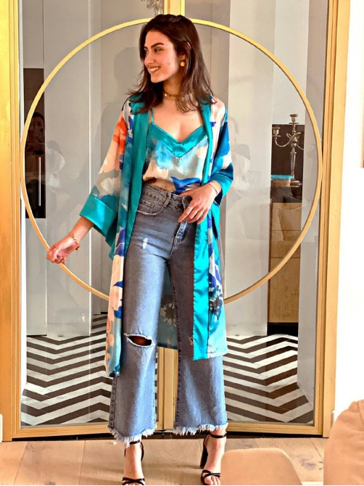 Conjunto Gaudí Azules, Pijama Novia, Pijama damas de honor, Pijama elegante, Pijama Boda, Mariquita Trasquilá