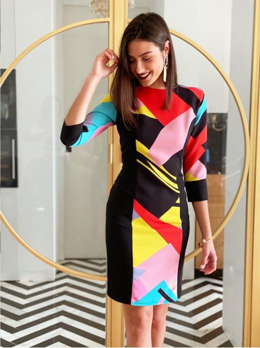 Vestido Picasso M.T., Vestido Boda, Vestido Mujer, Invitada Perfecta, Vestido Barato, Mariquita Trasquilá