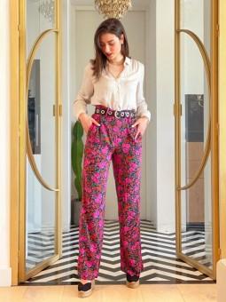 Pantalón Beverly Compañía Fantástica, Pantalón Mujer, Pantalón Barato, Pantalón Flores, Mariquita Trasquilá
