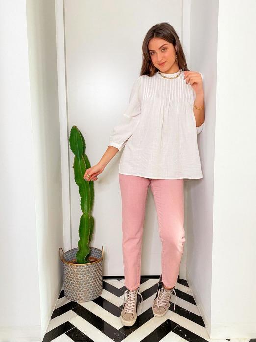 Blusa Pinzas Algodón, Mariquita Trasquilá, Blusa Mujer, Camisa Mujer