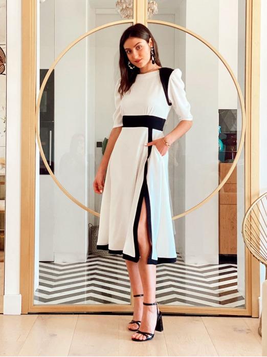 Vestido Mademoiselle Blanco Mariquita Trasquilá, Vestido Mujer, Vestido Blanco, Vestido Boda Civil