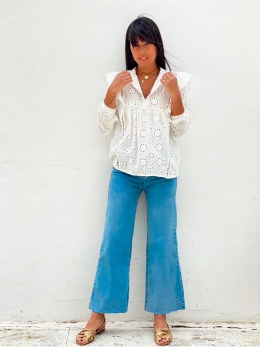 Jeans Cropped Denim, Pantalón Vaquero Mujer, Pantalones mujer, Pantalón Barato, Mariquita Trasquilá