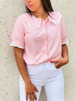 Camisa Boho Vichy, Camisa Cuadros, Camisa Mujer, Mariquita Trasquilá