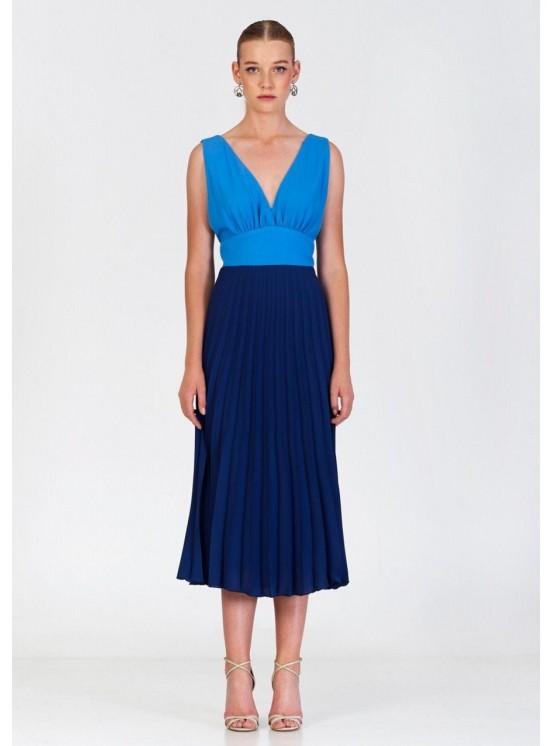Vestido Marú Atelier, plisado, invitada perfecta, ideal, Mariquita Trasquilá