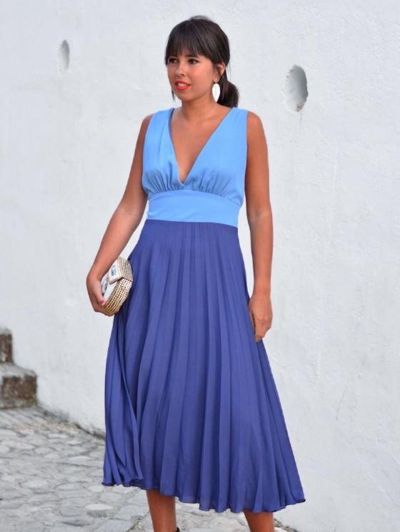 Vestido Marú Atelier, plisado, invitada perfecta, Mariquita Trasquilá