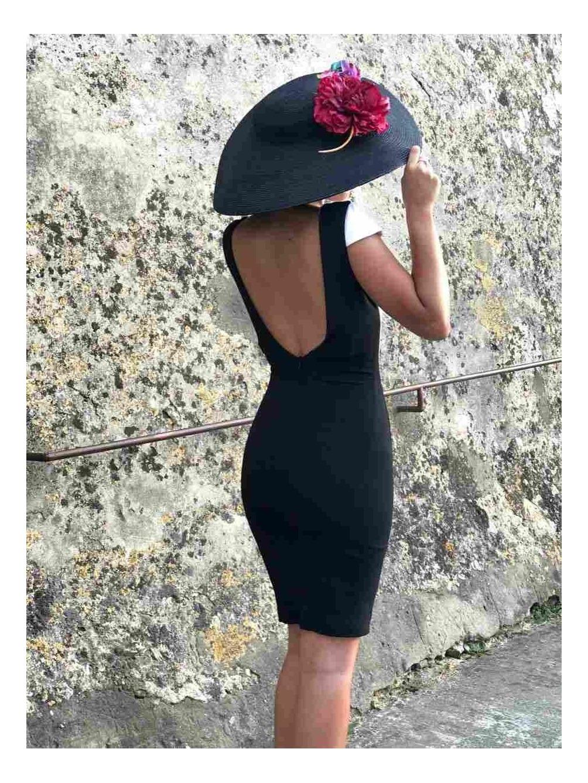 Vestido de invitada, vestido blanco y negro, bicolor, vestido de fiesta