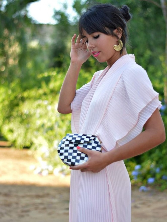 BOLSO CLUTCH MOSAICO BLACK AND WHITHE