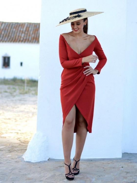Vestido Joselina, vestido de fiesta, vestido de coctel rojo, invitada Perfecta