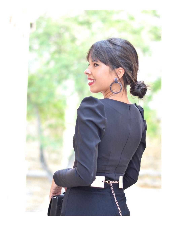 Blusa de fiesta Madame, invitada Perfecta, blusa negra, Mariquita Trasquilá