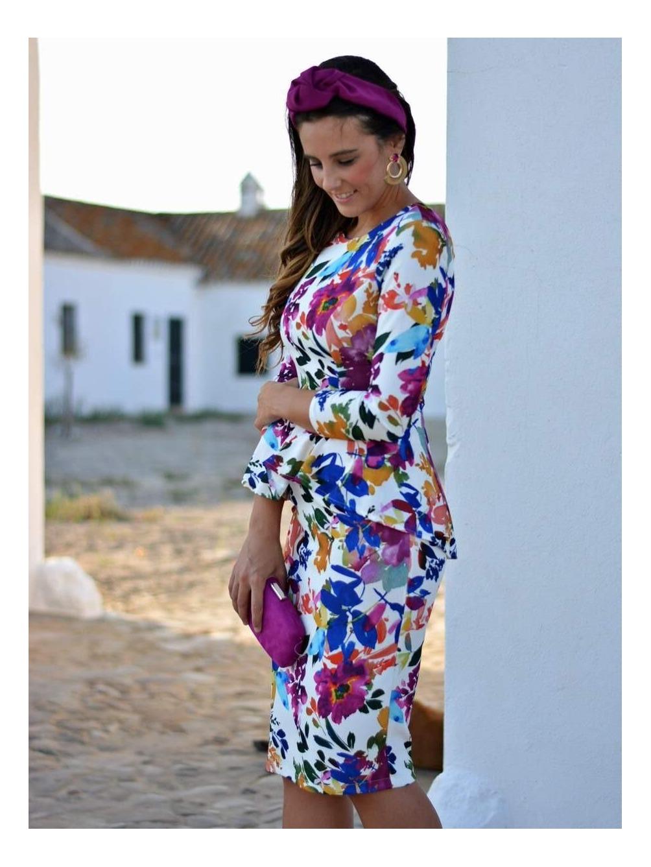 Vestido Flores De Sara Vestido De Fiesta Invitada Perfecta