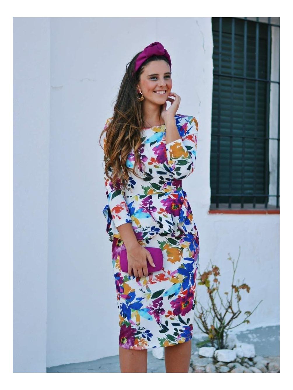 Vestido Flores de Sara, tocados, diadema de invitada,  invitada perfecta by Mariquita Trasquilá