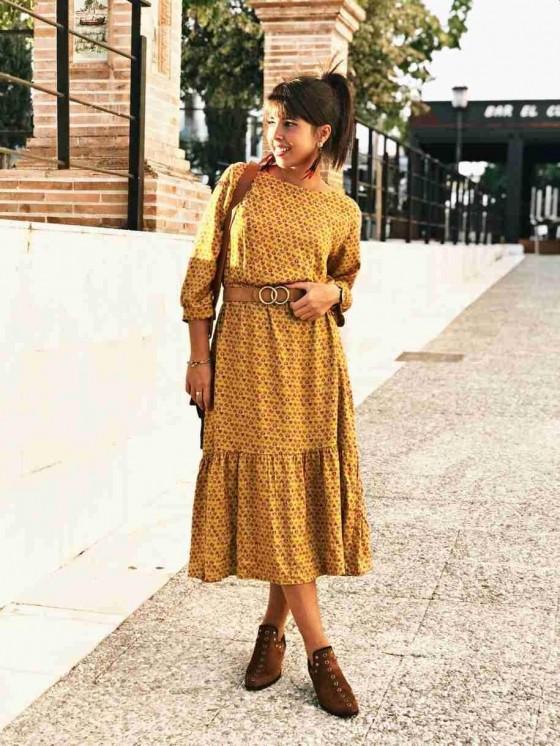 Vestido Love casual, vestido barato, vestido midi, Mariquita Trasquilá