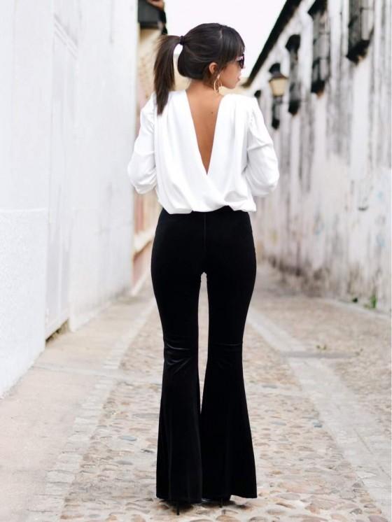 pantalon palazzo terciopelo negro, pantalón campana, mariquita trasquilá, tienda online