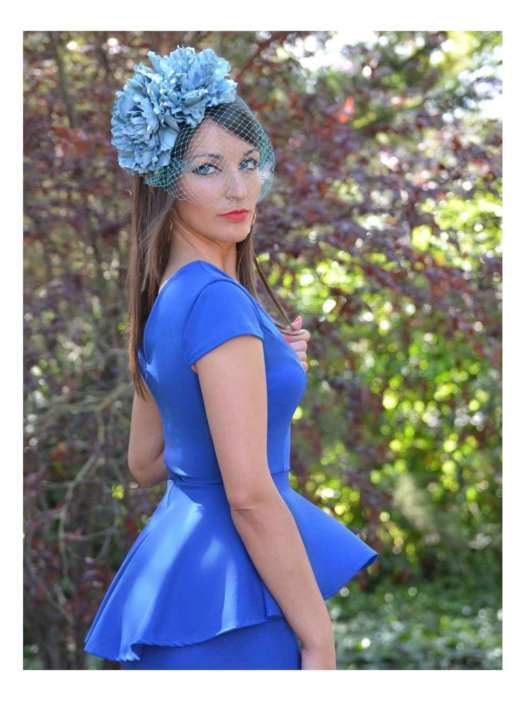 Vestido Peplum Sara Summer,  vestido midi, vestido de fiesta corto, vestido barato de invitada, Mariquita Trasquilá