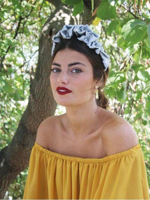 Diadema romantica, complementos para bodas, tocado para boda, Mariquita Trasquila