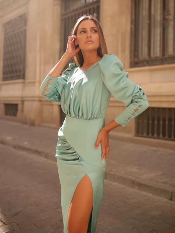 Vestido Lolita, vestido de fiesta, vestido verde, Mariquita Trasquila