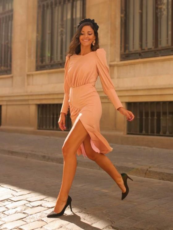 Vestido Lolita, vestido rosa, vestido de fiesta, Mariquita Trasquila