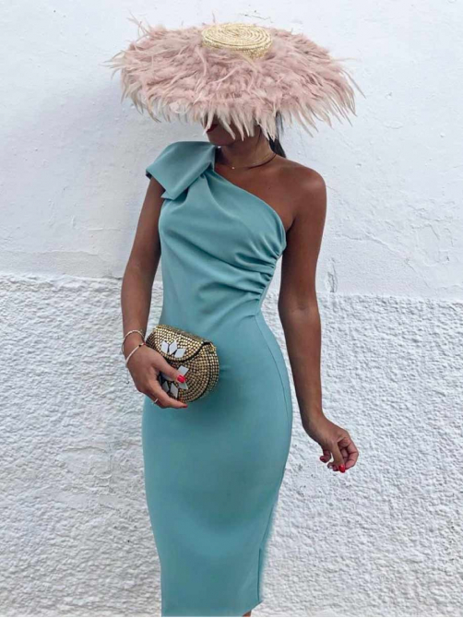 Vestido Asimetrico M.T, vestido de fiesta, vestido midi, Mariquita Trasquila