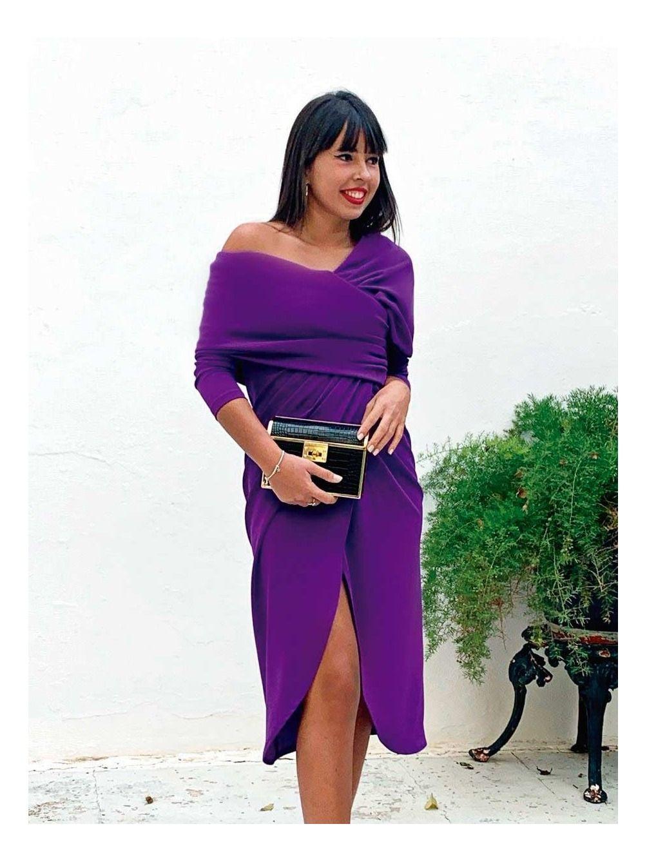 Vestido Alicia Autumn, vestido de fiesta barato, vestido morado, Mariquita Trasquila