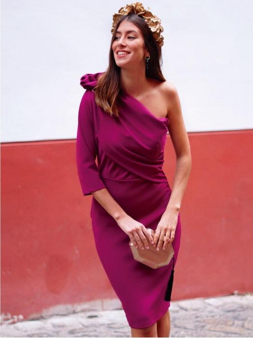 Vestido Asimétrico Alina, vestido de fiesta corto, vestido barato, Mariquita Trasquilá
