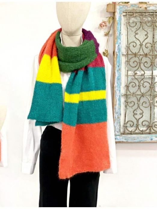 Bufanda Colores, complementos baratos, outfit perfecto, Mariquita Trasquilá.