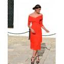 Vestido Flecos de Blanca, vestido rojo, tienda online de vestidos de fiesta, Mariquita Trasquilá