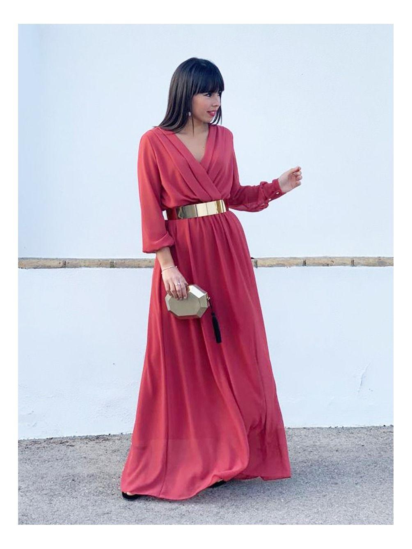 Vestido Fiesta Largo A.L., invitada perfecta, vestido de noche, Mariquita Trasquilá