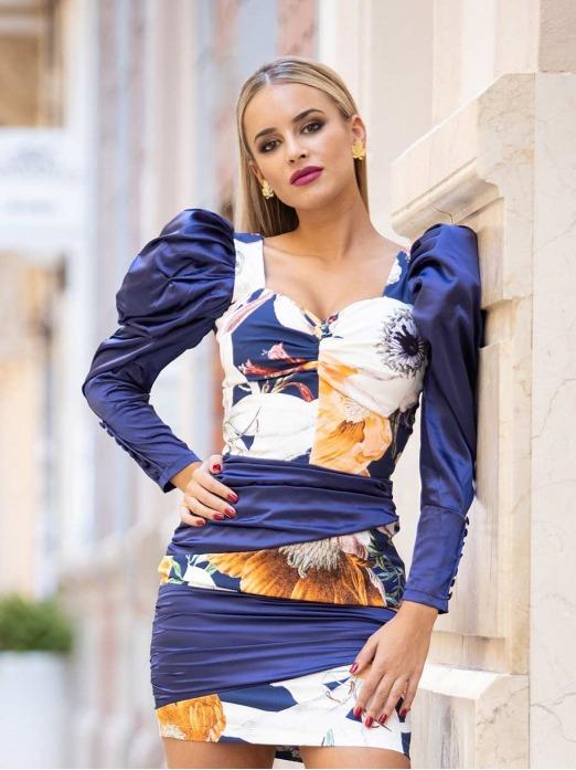Vestido Print Drapeado, vestido de fiesta, invitada perfecta, Mariquita Trasquilá