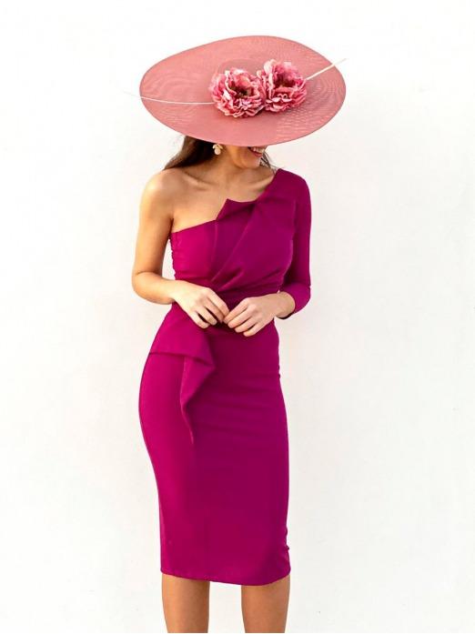 Vestido Asimétrico Alventus, vestido invitada boda, invitada perfecta, Mariquita Trasquilá