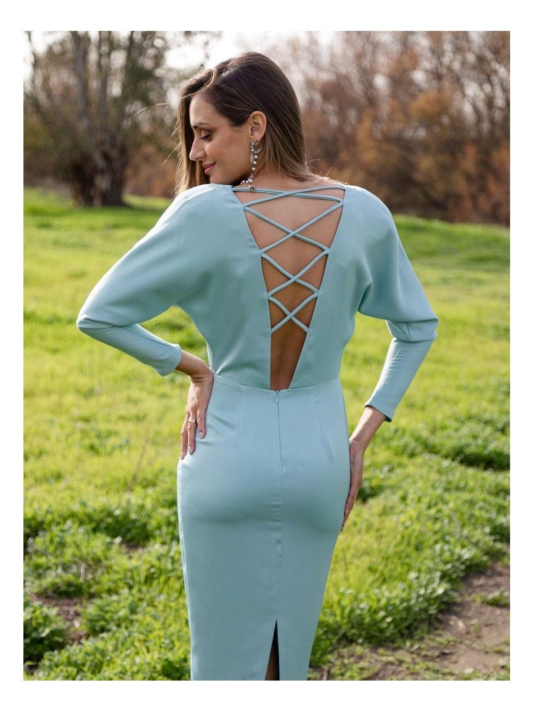 vestido fiesta, espalda descubierta, Mariquita Trasquilá