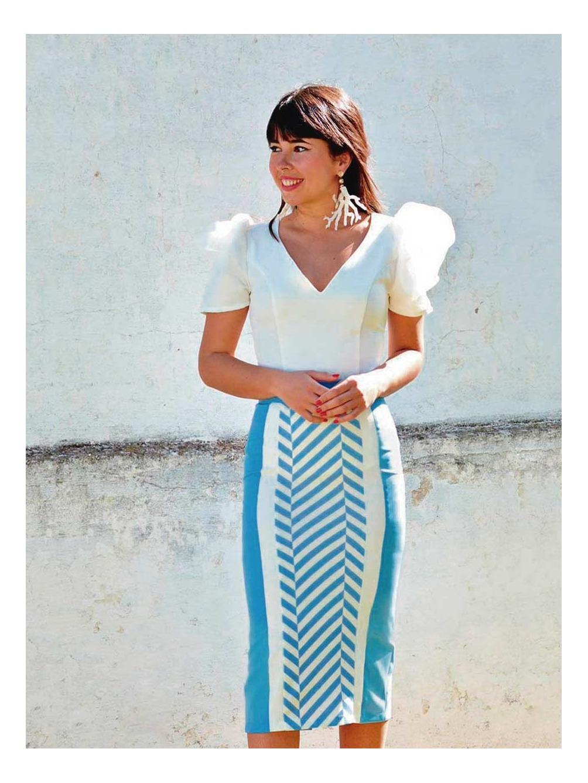 Falda Midi Espigas, falda de fiesta, invitada perfecta, Mariquita Trasquilá
