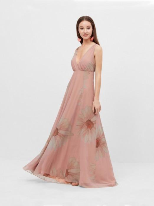 Vestido Largo Margaritas, vestido de fiesta, vestido invitada boda, Mariquita Trasquilá