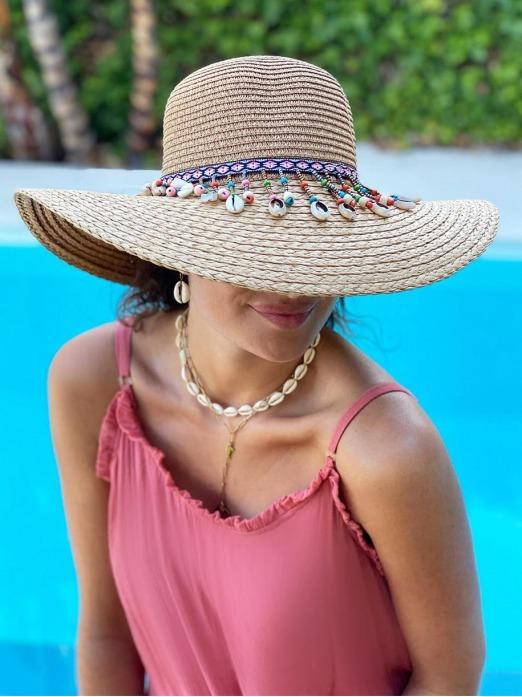 Sombrero Conchitas, sombrero verano, sombrero playa, Mariquita Trasquilá