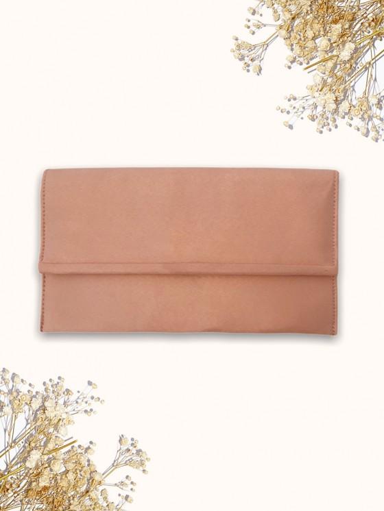 Clutch Básico Antelina, bolso mano, bolso rosa, Mariquita Trasquilá