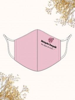 Mascarilla de Verano Rosa M.T., mascarilla de tela, mascarilla rosa, Mariquita Trasquilá