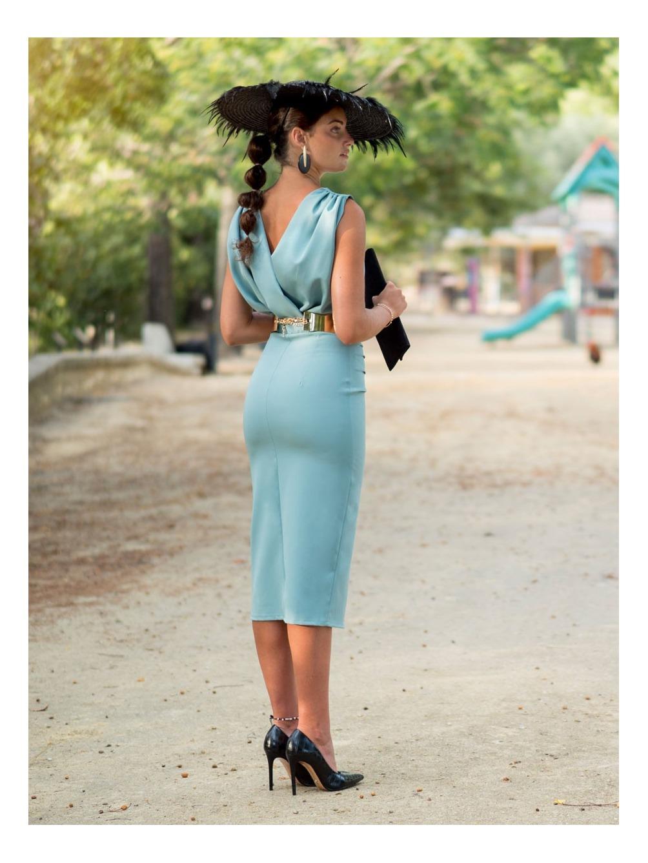 Vestido midi Alba M.T:, vestido boda, invitada perfecta, Mariquita Trasquilá