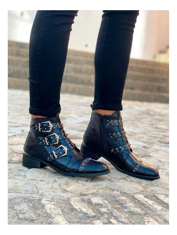 Botines Hebillas, botín negro, botines hebillas, Mariquita Trasquilá