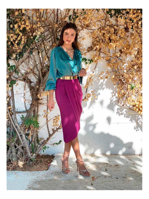 Falda de Fiesta Tulipán, falda midi, falda para invitada, Mariquita Trasquilá