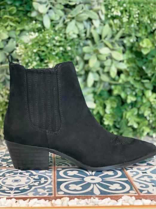 Botines Texas, botas negras, botas cowboy, Mariquita Trasquilá