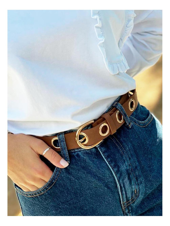 Cinturón Rock, complementos baratos, cinturón marrón, Mariquita Trasquilá