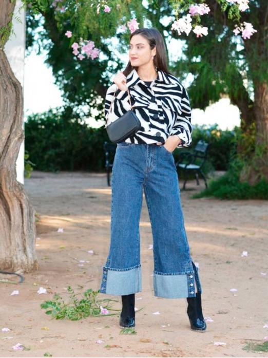 Pantalón Vaquero Culotte Botones, pantalón barato, jeans, Mariquita Trasquilá