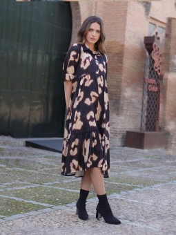 Vestido Midi Acuarela, vestido barato, vestido camisero, Mariquita Trasquilá