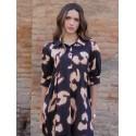 Vestido Midi Acuarela, vestido estampado, vestido leopardo, Mariquita Trasquilá
